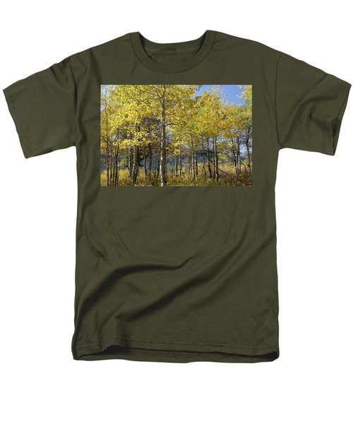 Quaking Aspens Men's T-Shirt  (Regular Fit) by Cynthia Powell