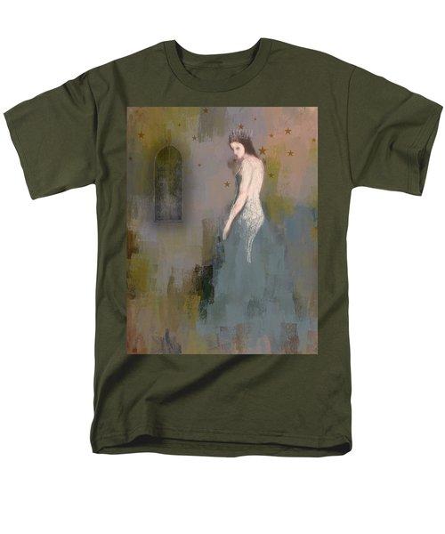 Men's T-Shirt  (Regular Fit) featuring the digital art Queen by Lisa Noneman