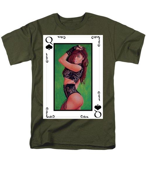 Queen Of Spades Men's T-Shirt  (Regular Fit) by Joseph Ogle