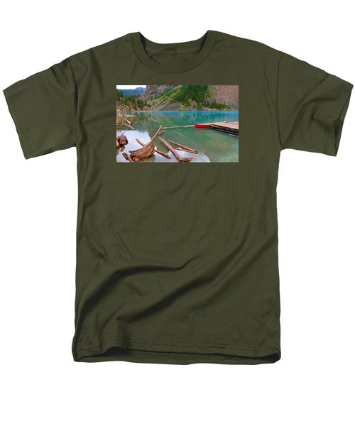 Moraine Lake I, Alberta Men's T-Shirt  (Regular Fit) by Heather Vopni