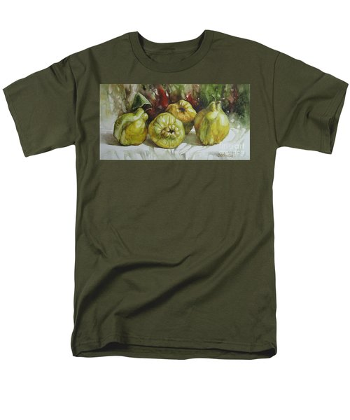 Men's T-Shirt  (Regular Fit) featuring the painting Quinces by Elena Oleniuc
