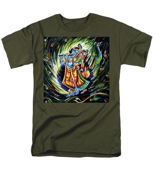 Men's T-Shirt  (Regular Fit) featuring the painting Radhe Krishna by Harsh Malik