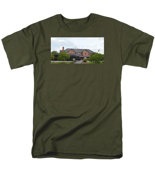 Railroad Depot Men's T-Shirt  (Regular Fit) by Linda Geiger