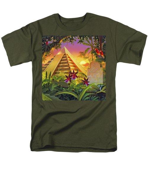 Rain Forest Pyramid  Men's T-Shirt  (Regular Fit) by Robin Moline