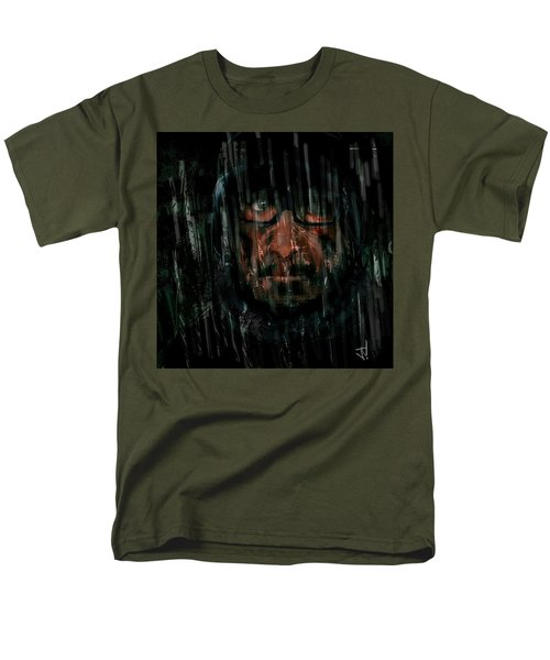 Men's T-Shirt  (Regular Fit) featuring the painting Rain Nor Sleet Nor Snow by Jim Vance