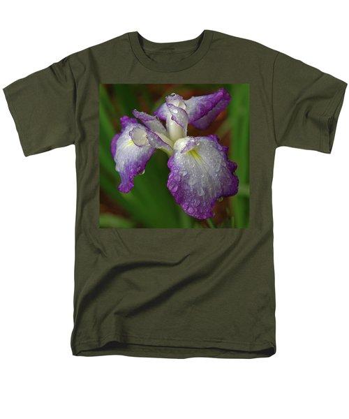 Rain-soaked Iris Men's T-Shirt  (Regular Fit) by Marie Hicks