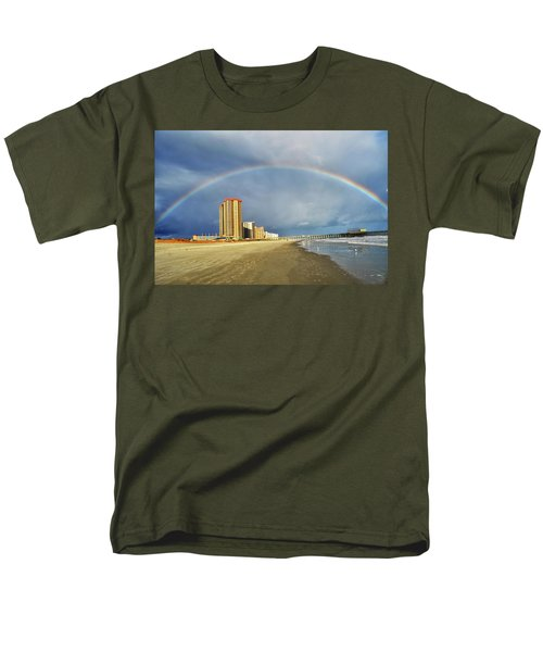 Men's T-Shirt  (Regular Fit) featuring the photograph Rainbow Beach by Kelly Reber