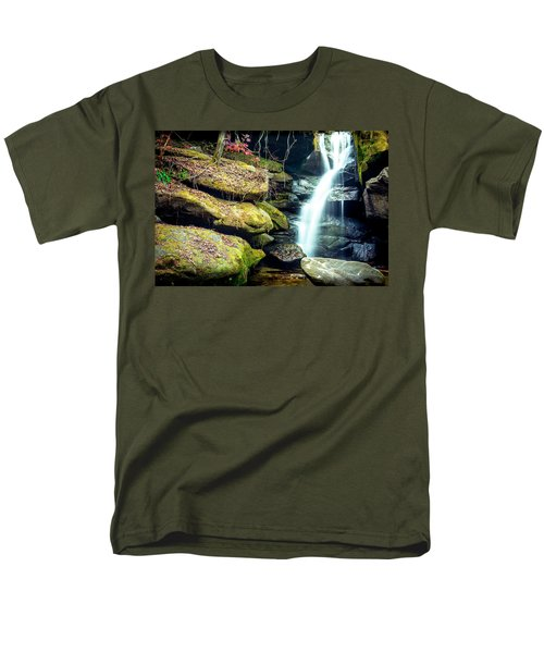 Men's T-Shirt  (Regular Fit) featuring the photograph Rainbow Falls At Dismals Canyon by David Morefield