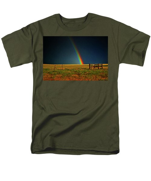 Men's T-Shirt  (Regular Fit) featuring the photograph Rainbow In A Field 001 by George Bostian