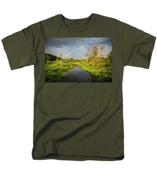 Rainbow Men's T-Shirt  (Regular Fit) by Jaroslaw Grudzinski