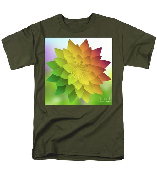 Rainbow Lotus Men's T-Shirt  (Regular Fit) by Mo T