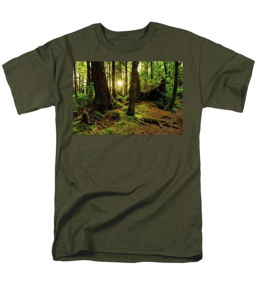 Rainforest Path Men's T-Shirt  (Regular Fit) by Chad Dutson