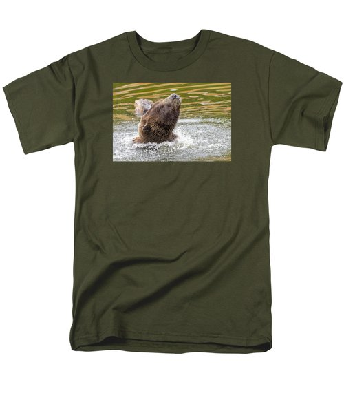 Rambo Bear Men's T-Shirt  (Regular Fit) by Harold Piskiel