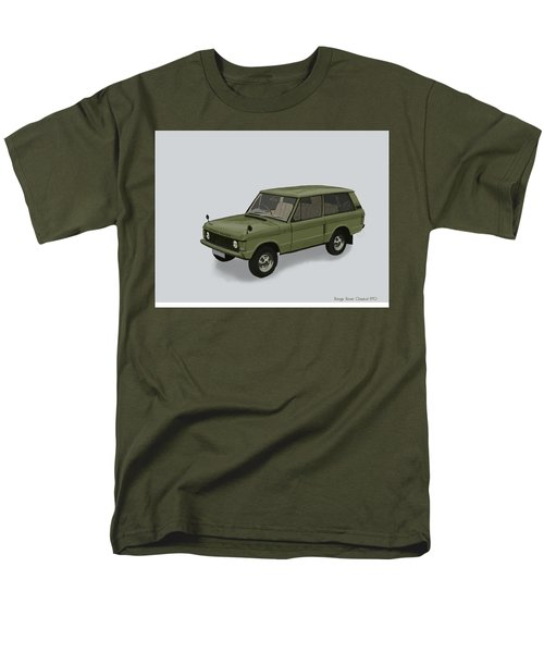 Men's T-Shirt  (Regular Fit) featuring the mixed media Range Rover Classical 1970 by TortureLord Art
