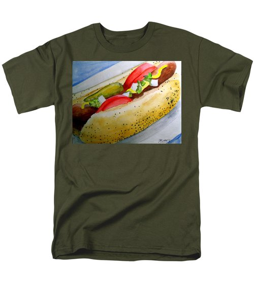Real Deal Chicago Dog Men's T-Shirt  (Regular Fit) by Carol Grimes