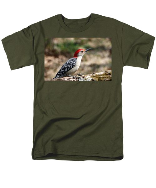 Red-bellied Woodpecker Men's T-Shirt  (Regular Fit) by Sheila Brown