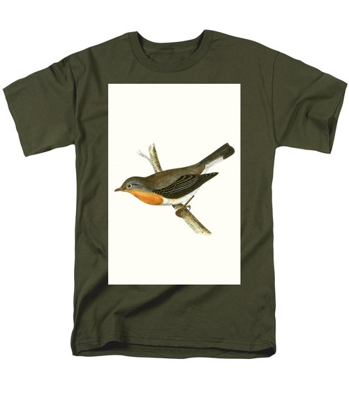 Red Breasted Flycatcher Men's T-Shirt  (Regular Fit) by English School