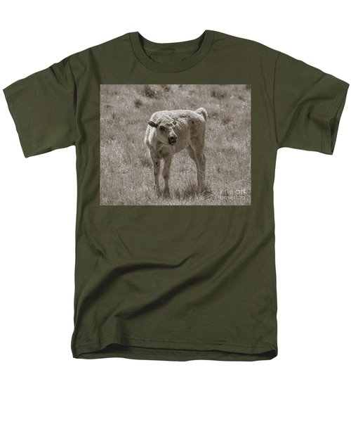 Men's T-Shirt  (Regular Fit) featuring the photograph Red Dog Buffalo Calf by Rebecca Margraf