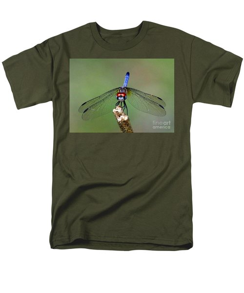 Men's T-Shirt  (Regular Fit) featuring the photograph Red Eyed Dragonfly by Myrna Bradshaw