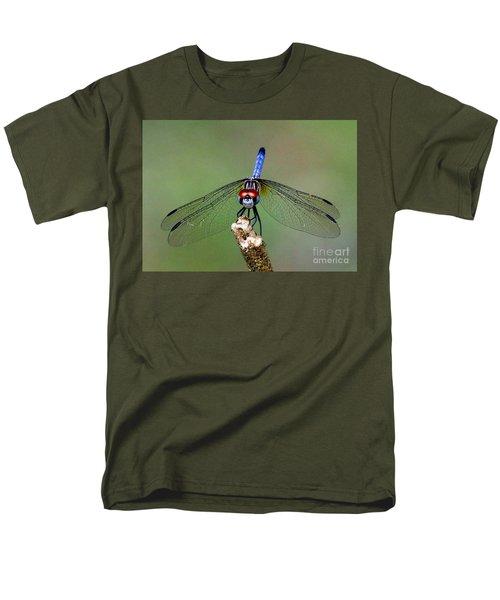 Red Eyed Dragonfly Men's T-Shirt  (Regular Fit) by Myrna Bradshaw