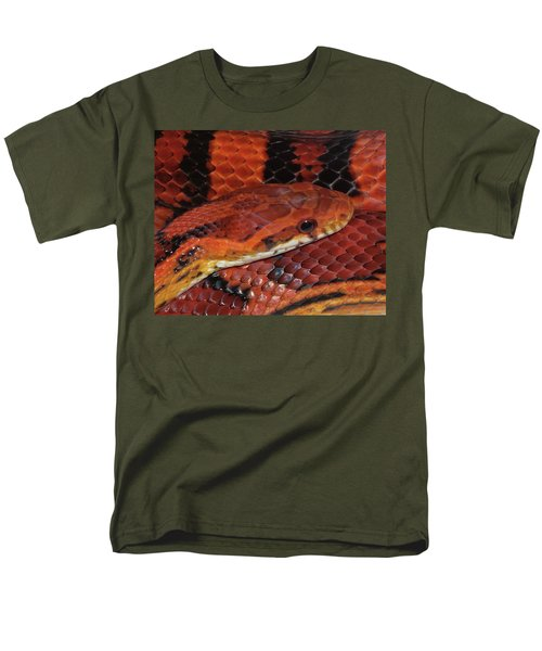 Red Eyed Snake Men's T-Shirt  (Regular Fit) by Patricia McNaught Foster