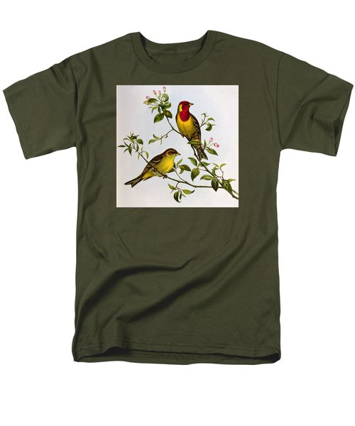 Red Headed Bunting Men's T-Shirt  (Regular Fit) by John Gould