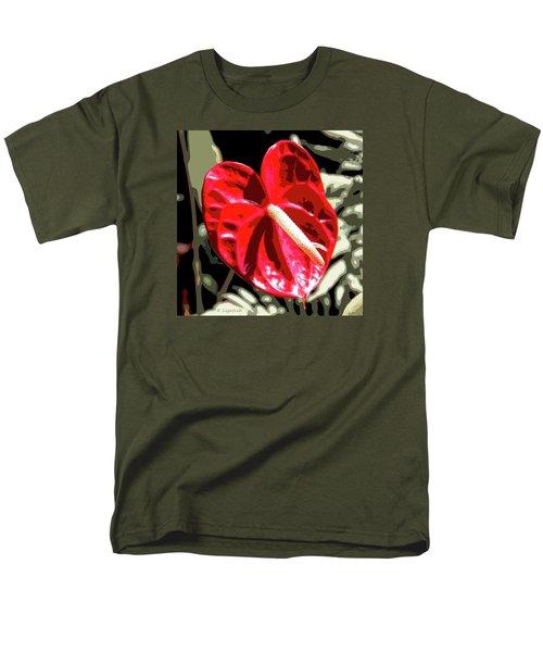 Red Heart Men's T-Shirt  (Regular Fit) by Kerri Ligatich