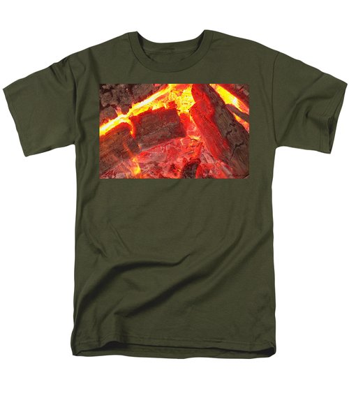 Men's T-Shirt  (Regular Fit) featuring the photograph Red Hot by Betty Northcutt