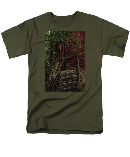 Men's T-Shirt  (Regular Fit) featuring the photograph Red Mill Decayed Wheel by Trey Foerster