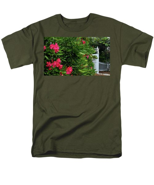 Men's T-Shirt  (Regular Fit) featuring the photograph Red Oleander Arbor by Marie Hicks
