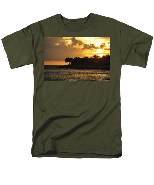 Men's T-Shirt  (Regular Fit) featuring the photograph Red Sky At Night Over Sunset Key by John Black