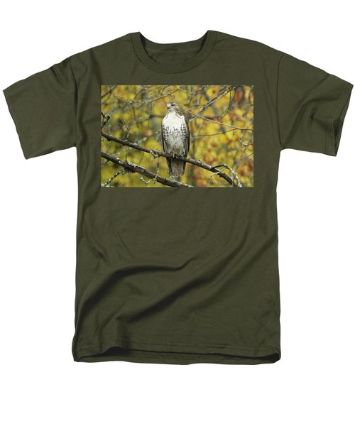 Red Tail Hawk 9887 Men's T-Shirt  (Regular Fit) by Michael Peychich