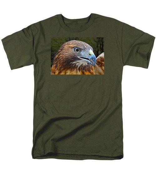 Red-tailed Hawk Portrait Men's T-Shirt  (Regular Fit) by Sandi OReilly