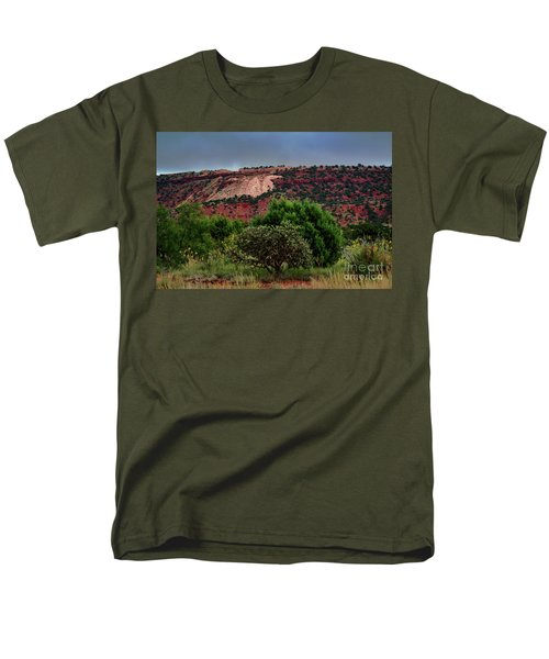 Men's T-Shirt  (Regular Fit) featuring the photograph Red Terrain - New Mexico by Diana Mary Sharpton