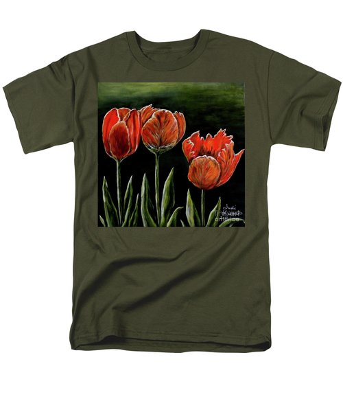 Red Tulips Men's T-Shirt  (Regular Fit) by Judy Kirouac