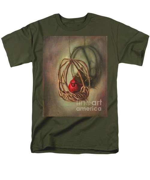 Men's T-Shirt  (Regular Fit) featuring the painting Redbird by Randol Burns