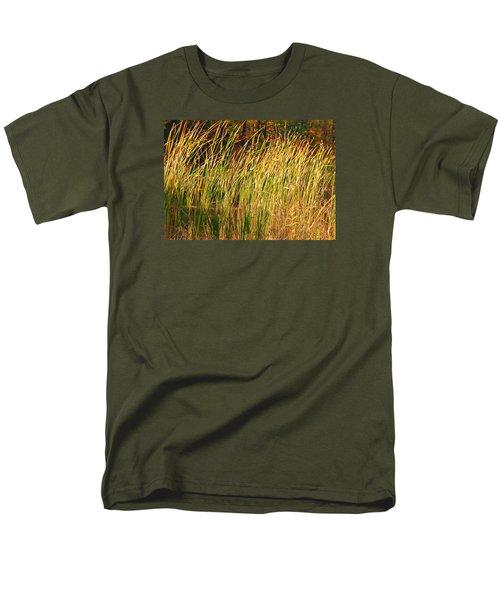 Men's T-Shirt  (Regular Fit) featuring the photograph Reeds by Susan Crossman Buscho
