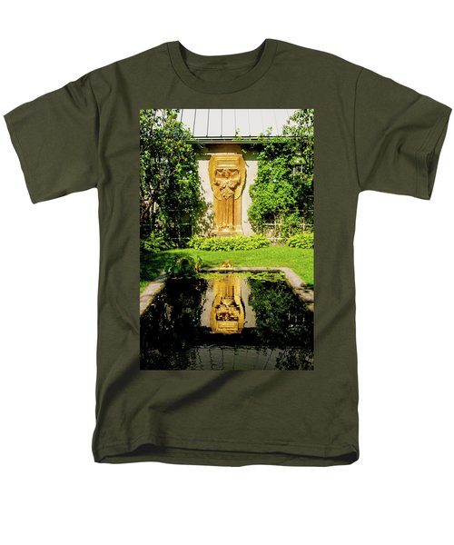 Men's T-Shirt  (Regular Fit) featuring the photograph Reflecting Art by Greg Fortier
