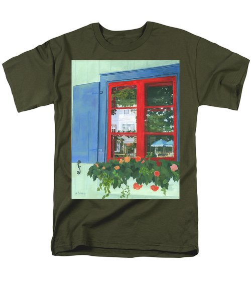 Reflecting Panes Men's T-Shirt  (Regular Fit) by Lynne Reichhart