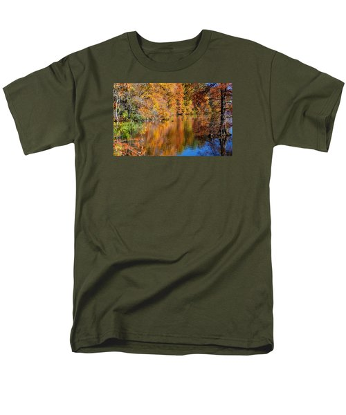 Reflected Fall Foliage Men's T-Shirt  (Regular Fit) by Allan Levin