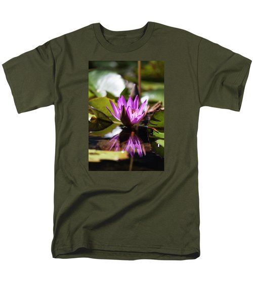 Men's T-Shirt  (Regular Fit) featuring the photograph Reflection In Fuchsia by Suzanne Gaff