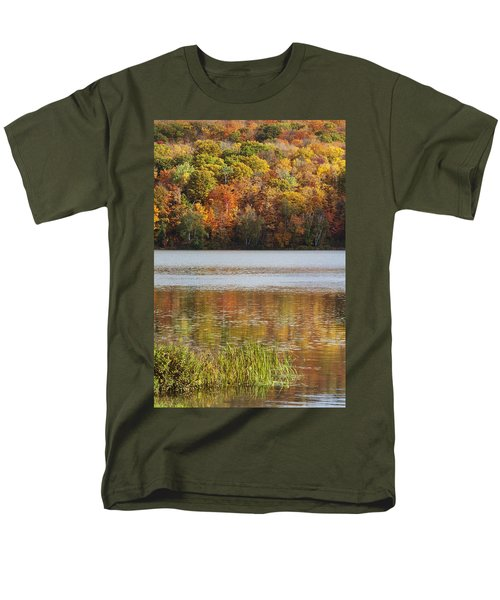 Reflection Of Autumn Colors In A Lake Men's T-Shirt  (Regular Fit) by Susan Dykstra