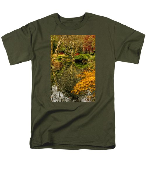 Men's T-Shirt  (Regular Fit) featuring the photograph Reflections At Japanese Gardens by Barbara Bowen