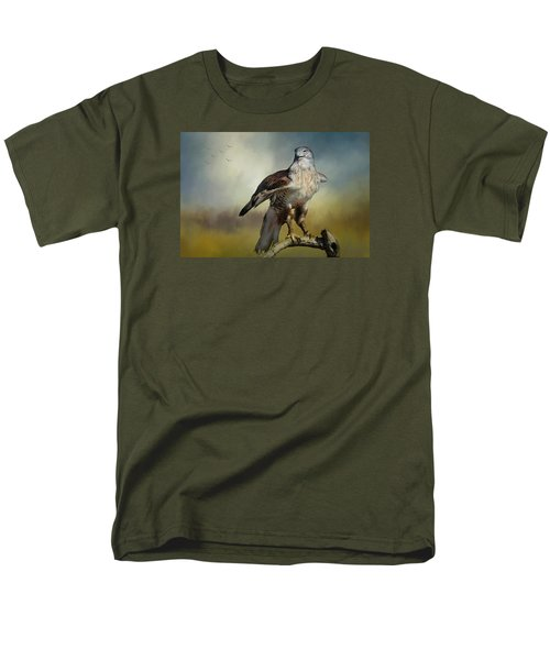 Men's T-Shirt  (Regular Fit) featuring the photograph Regal Bird by Barbara Manis