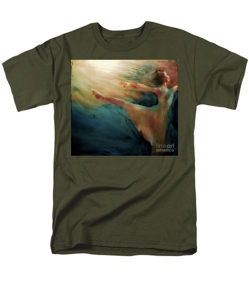 Men's T-Shirt  (Regular Fit) featuring the painting Releasing Of The Soul by FeatherStone Studio Julie A Miller
