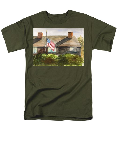 Men's T-Shirt  (Regular Fit) featuring the painting Remembering Patriot Day by John Williams