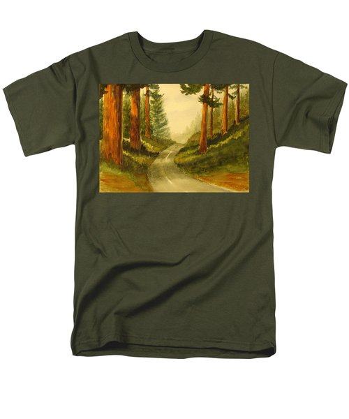 Remembering Redwoods Men's T-Shirt  (Regular Fit) by Marilyn Jacobson
