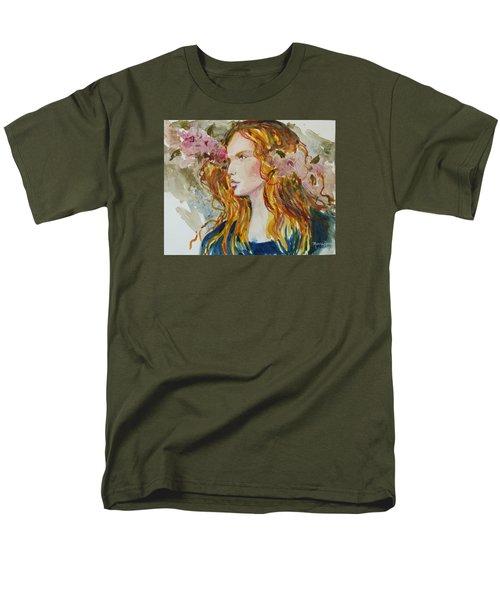 Men's T-Shirt  (Regular Fit) featuring the painting Renaissance Woman by P Maure Bausch