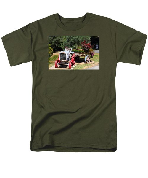 Men's T-Shirt  (Regular Fit) featuring the photograph Renault Flower Bed by Richard Patmore