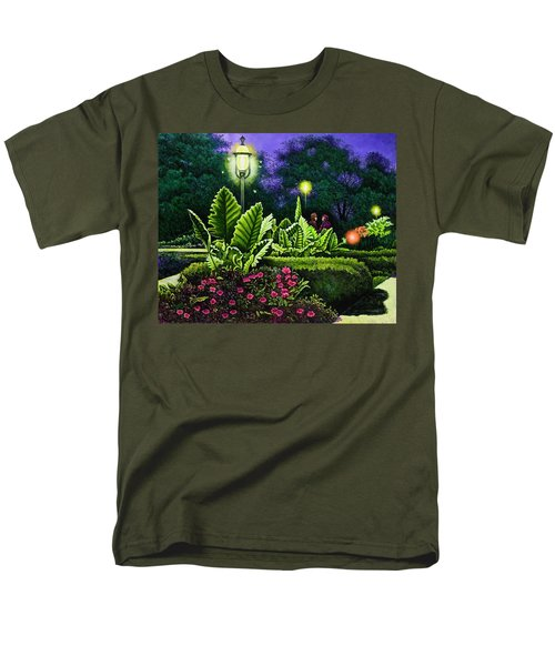 Men's T-Shirt  (Regular Fit) featuring the painting Rendezvous In The Park by Michael Frank